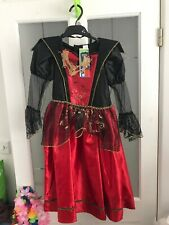 NEW Halloween Fancy Dress Up Outfit 5-6Yrs BNWT Girls Clothing Vampiress World