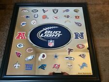 "Bud Light Nfl Football Beer Bar Pub Man Cave Mirror 2012 29 1/2"" X 29 1/2"""