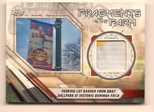 BOWMAN FIELD 2017 TOPPS PRO DEBUT FRAGMENT OF THE FARM PARKING LOT BANNER