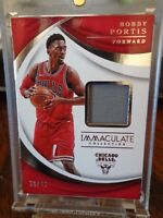 2017-18 Panini IMMACULATE BOBBY PORTIS JERSEY CARD 30 /49 BULLS