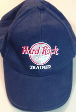 "Hard Rock Cafe Trainer ""Train The Planet"" Navy Blue Baseball Hat Cap Hrc Staff!"