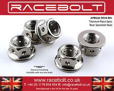 Aprilia RSV4 09+ Rear Sprocket Nut Kit - Racebolt Titanium Race Spec
