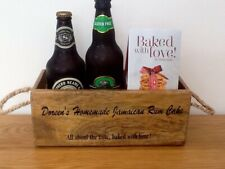 Jamaican Rum Cake Wooden Storage Crate. All about the taste, baked with love.