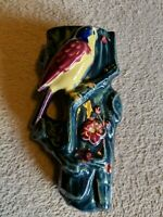 "VINTAGE CERAMIC  PARROT 6 1/2"" WALL POCKET MADE IN JAPAN"