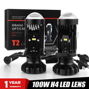 2 X H4 Right Mini LED Projector Lens Headlight Auto Bi-LED Hi/Lo Beam Motorcycle