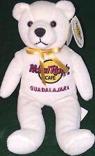 "Hard Rock Cafe GUADALAJARA 2005 ""PETER"" Teddy BEARA #5 of 5 White Bean HRC BEAR"
