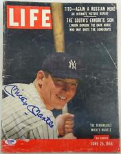 Mickey Mantle Autographed Life Magazine 6/25/56 PSA/DNA D57445