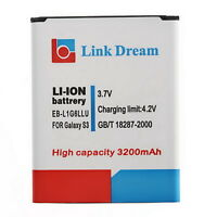 New Recharheable 3200mah Battery for Samsung I9300 Samsung GALAXY SIII S3 UL
