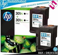 PACK TINTA NEGRA 301XL DOBLE ORIGINAL HP CARTUCHO NEGRO HEWLETT PACKARD