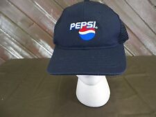 Vintage Pepsi Baseball Cap Hat by Riverside Adjustable Plastic Strap Size L
