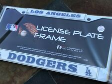 1 Los Angeles Dodgers Chrome Metal License Plate Frame wNice Raised 3D Graphics