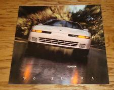 Original 1990 Toyota Supra Deluxe Sales Brochure 90