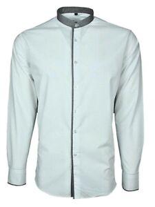 Men's Plain n Grey Grandad Lounge Shirt Cotton*Clearance Sale*Best Offer fm 9.99