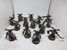 World Eaters Chaos Space Marine Squad (14) Forgeworld Upgrades Painted G178