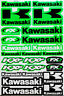 SET KAWASAKI Aufkleber Motorrad Bogen KX GX FX RACE Motorradsport Stickers