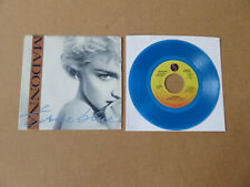 "MADONNA True Blue SIRE 1986 BLUE VINYL USA PROMO 7"" IN PICTURE SLEEVE 7-28591-DJ"