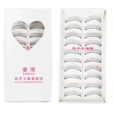 10 Pairs Soft Natural Long Thick Makeup Eye Lash Extension False Eyelashes