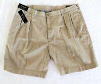 "Polo Ralph Lauren Men's 40 Classic Fit Pleated Khaki Shorts 9"" Inseam MSRP $70"