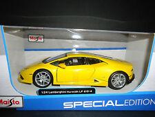 Maisto Lamborghini Huracan LP610 Yellow 1/24