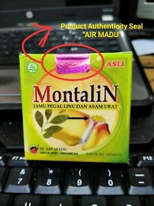 6 Boxes Montalin Native Indonesia Herbs for Gout and Uric Acid