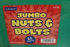 Lakeshore Learning Educational Jumbo Nuts &  Bolts Toy Bin NEW