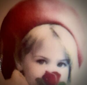 """1996 Kim Anderson Verkerke Enesco Porcelain Vase RED ROSE IS FOR LOVE 8"""""""