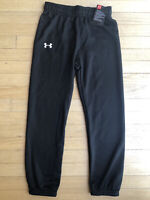 Under Armour UA Kids Toddler Boys Youth Black Jogger Pants Athletic Size 6 New