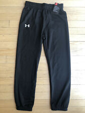Under Armour UA Kids Toddler Boys Youth Black Jogger Pants Athletic Size 7