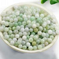 5/50Pcs Natural Jadeite Gemstone Round Loose Beads DIY Jewelry Supplies Decor