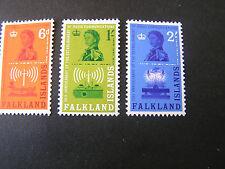 FALKLAND IS. SCOTT # 143-145(3) 1962 RADIO STATION ISSUE. MLH