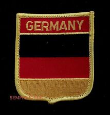 GERMANY SHIELD HAT PATCH GERMAN FLAG Deutschland Aufnäher PIN UP NATO GIFT WOW