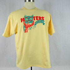 Hooter's Spring Break 2009 Yellow T-Shirt X-Large 100% Cotton