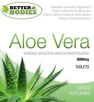 Aloe Vera Juice 6000mg Tablets Super Strength Colon Cleanse Better Bodies
