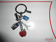 NEW Coach Travel Mix Charm Eiffel Tower Camera  Keychain Keyfob Key Fob 62733