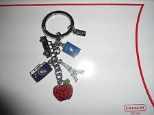 NEW Coach Travel Mix Charm Eiffel Tower Camera  Keychain Keyfob Key Fob 62733