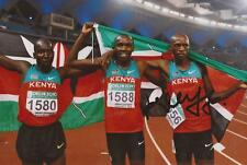 ATHLETICS: ABRAHAM KIPLAGAT SIGNED 6x4 ACTION PHOTO+COA *KENYA*