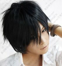 Ao no Exorcist Okumura Rin Short Blue Black Party Cosplay Wig Free Shipping