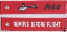 "ROBINSON R44 HELICOPTER ""REMOVE"" KEYCHAIN  - KEY044"