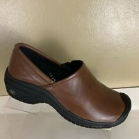 Keen Cush Work Clogs Womens US Size 7.5 Brown Leather Slip Resistant
