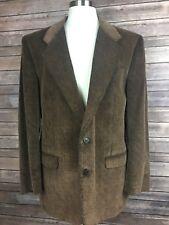 Vintage Jack Frost Mens 43 Brown Corduroy Woolen Wear 2 Button Coat Blazer C12