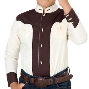 Boys Charro Shirt El General Western Wear Camisa Charra de Niño Color Beige