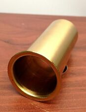 "MARINE BOAT POLISHED BRASS DRAIN TUBE 1.25"" BY 3"" TRANSOM MOTORWELL LIVEWELL USE"