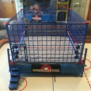 WWE WWF WrestleMania 2 Official Scale Cage WRESTLING RING  IN BOX SHIPS FREE