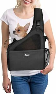 Nasjac Pet Dog Sling Carrier, Hands Free Papoose Small Dog Puppy Travel Bag Tote
