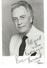 Barry Howard Actor. Hi-De-Hi Genuine Signed Photo Card With Note