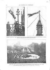 WWI Londres London Flags USA & UK Victoria Tower/Paris Place Iéna A ILLUSTRATION