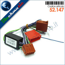 Cavo adattatore ISO autoradio Audi impianto audio attivo post. connettore ISO