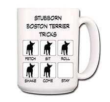 Boston Terrier Stubborn Tricks Extra Large 15oz Coffee Mug