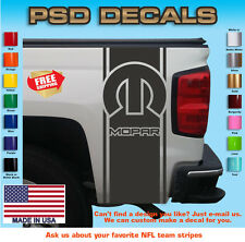 Dodge Ram MOPAR Rear Bed Viny Decal Stripes Truck Graphics T-149