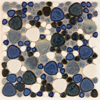 Blue Ceramic Mosaic Tiles Craft Pool Splashback Floor tiles